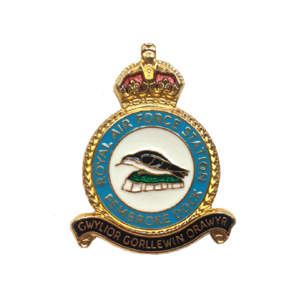 Royal Air Force RAF Station Pembroke Dock Lapel Badge